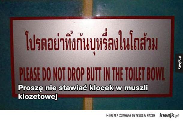Wpadki tłumaczeniowe tłumaczone Google Translatorem