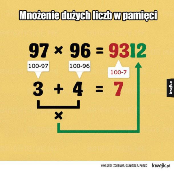 Matematyczne triki, które mogą ułatwić życie