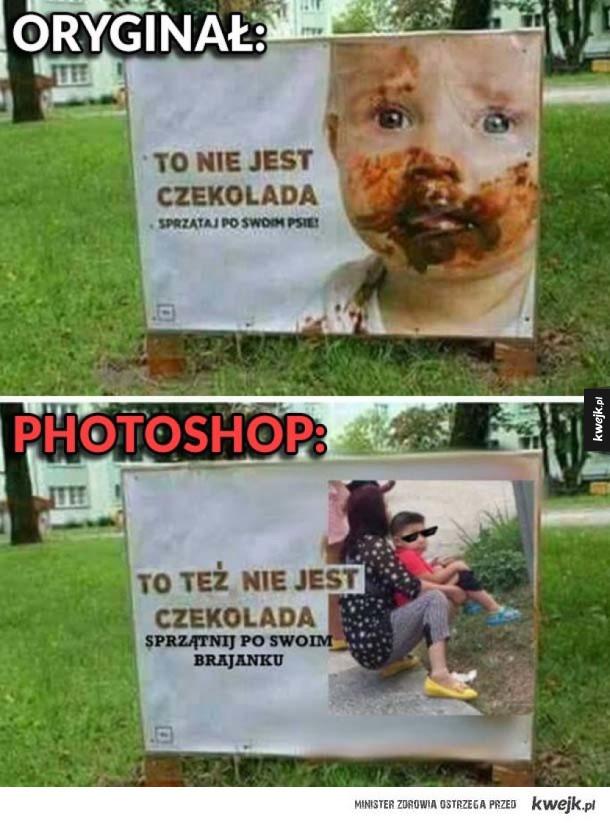 Oryginał i photoshop