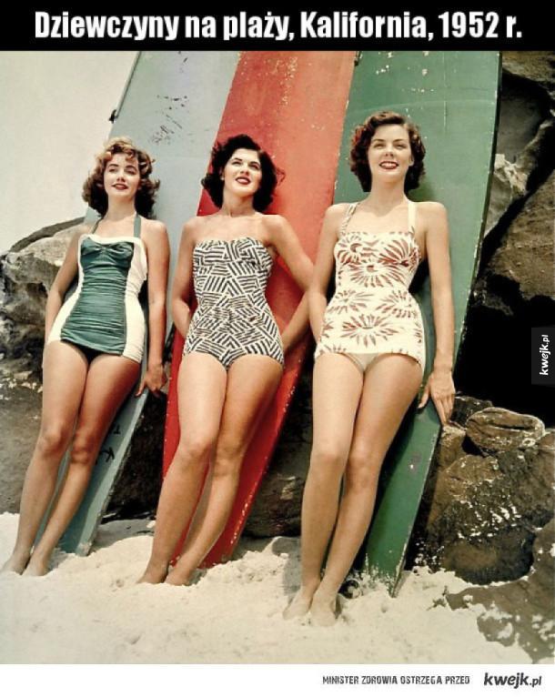 Tak się ubierano na plażę w latach '50
