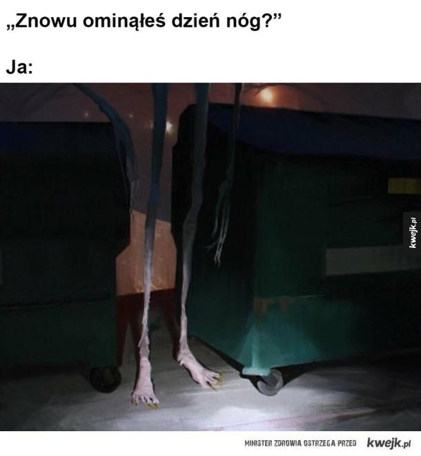 Nogi jak od stołu