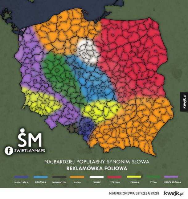 Jak się mówi na reklamówkę w Polsce