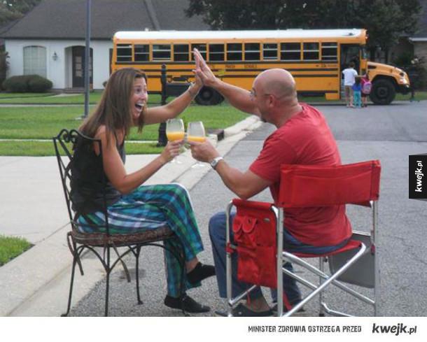 Pierwszy dzień szkoły: rodzice kontra dzieci
