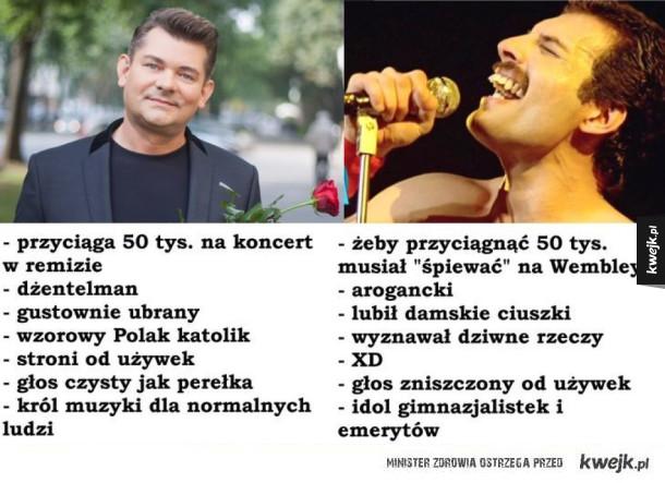 Zenek Martyniuk vs Freddie Mercury