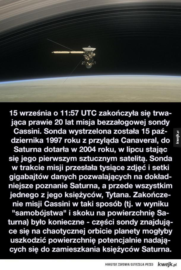 Koniec misji sondy Cassini