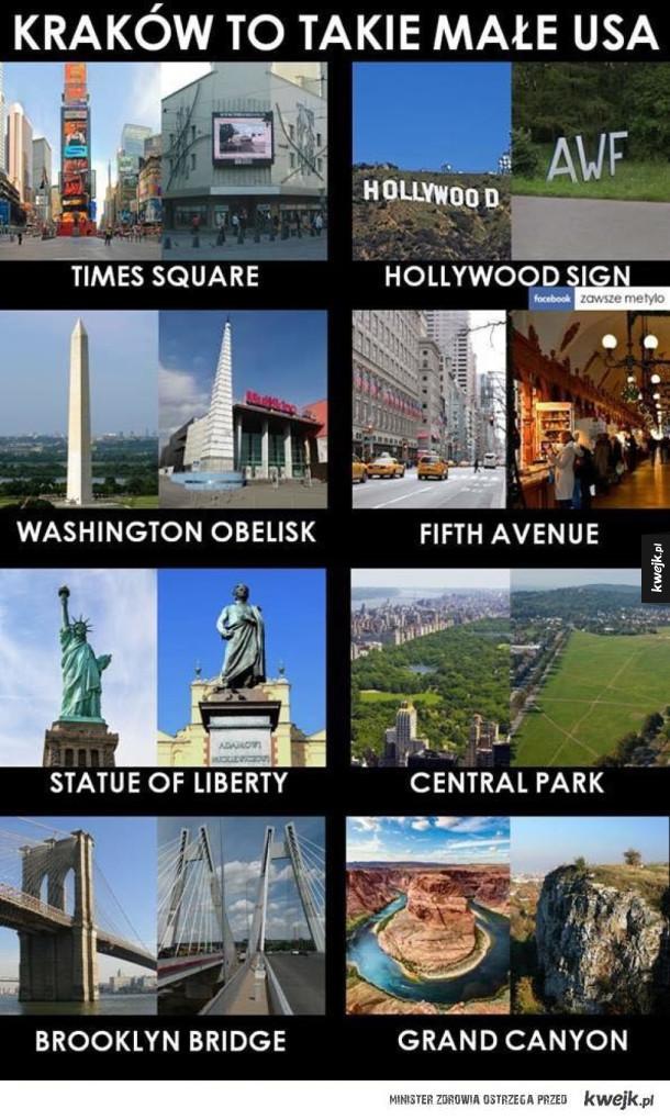 Kraków to takie małe USA