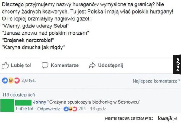 Huragan po Polsku