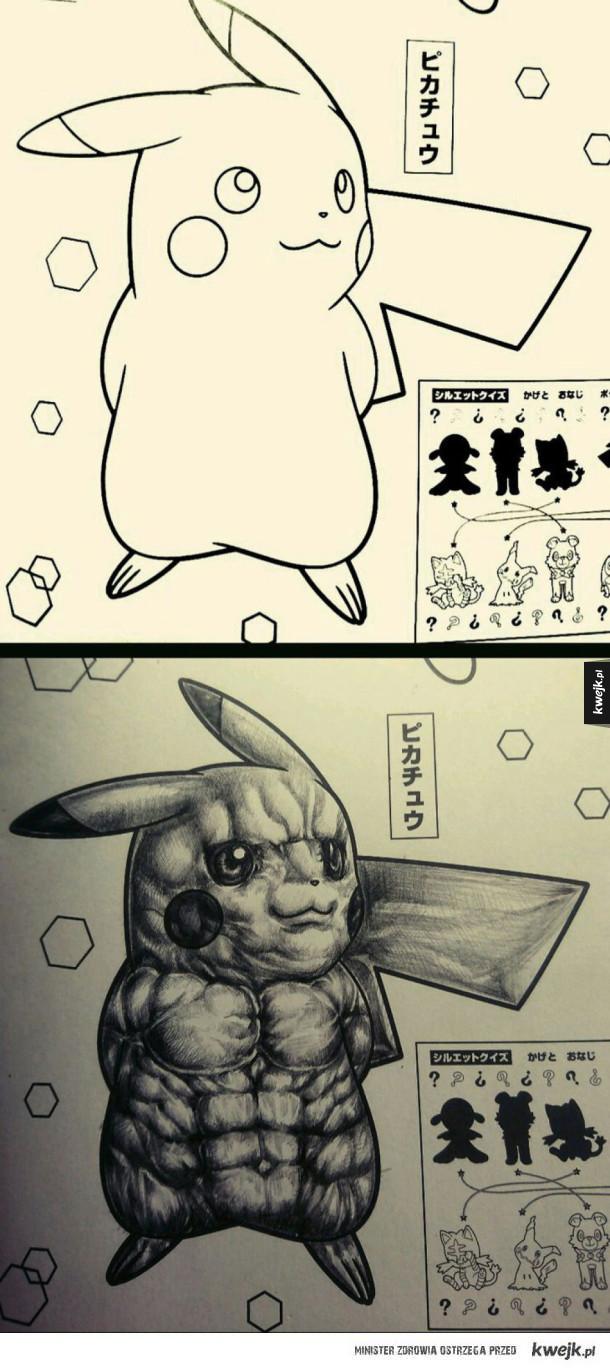 Jak pokolorować Pikachu