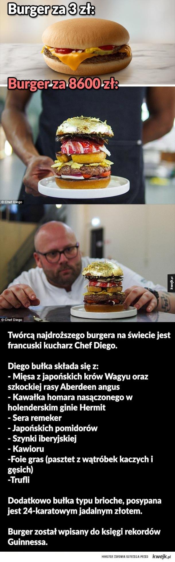 Najdroższy burger świata