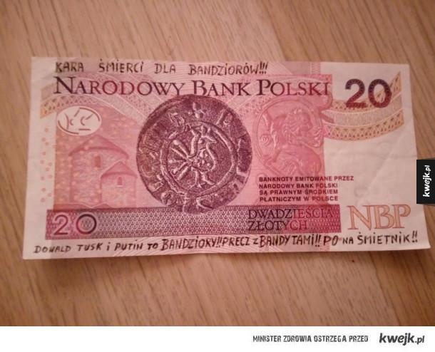 Ciekawy banknot mi wydali