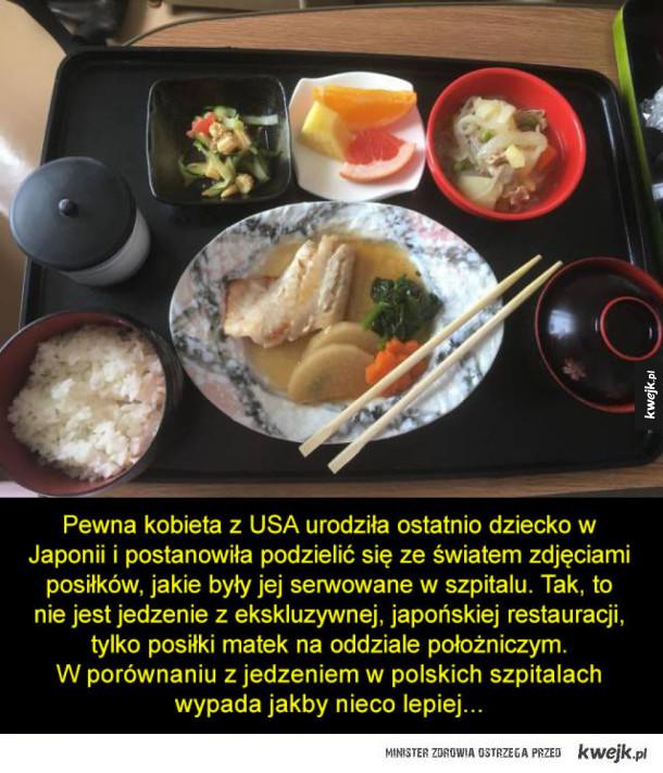 Jedzenie w japońskim szpitalu