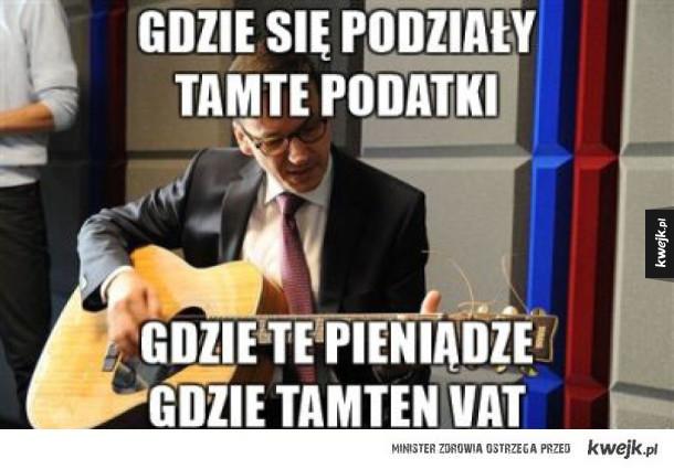 Morawiecki sings! - Chciałem być prywaciarzem pić drogie whisky przy cygarze podróżować, zwiedzać świat... a zamiast tego, dymam was na vat