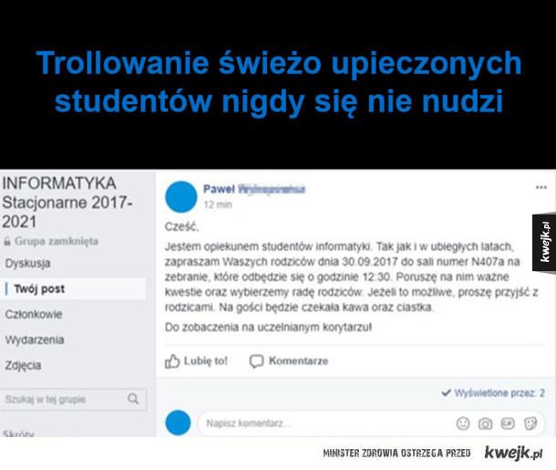 Trollowanie studentów