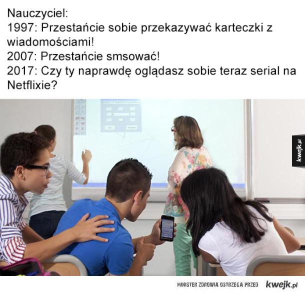 Jak zmienili się nauczyciele i uczniowie na przestrzeni lat