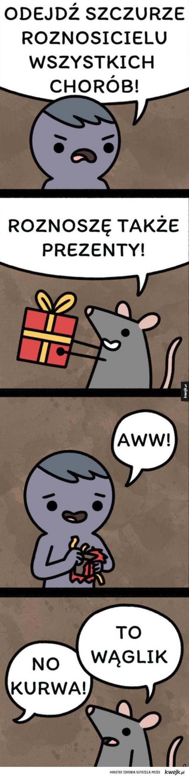 Prezent od szczura