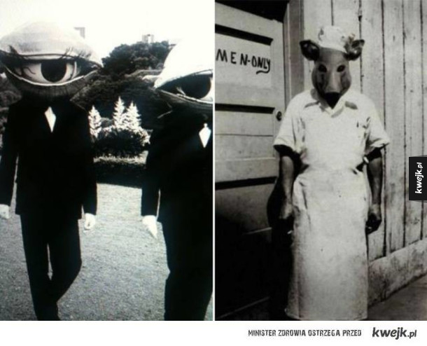 Przerażające zdjęcia halloweenowych kostiumów sprzed lat