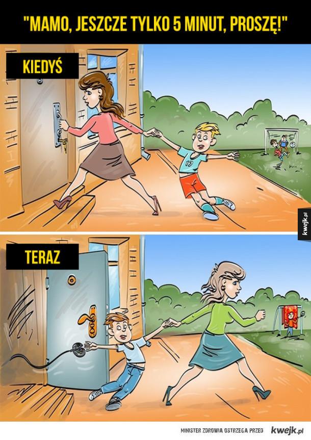 Dzieciństwo kiedyś i dziś