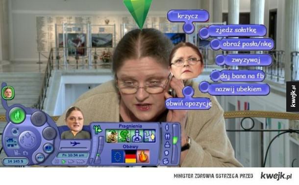 Pawłowicz w Simsach