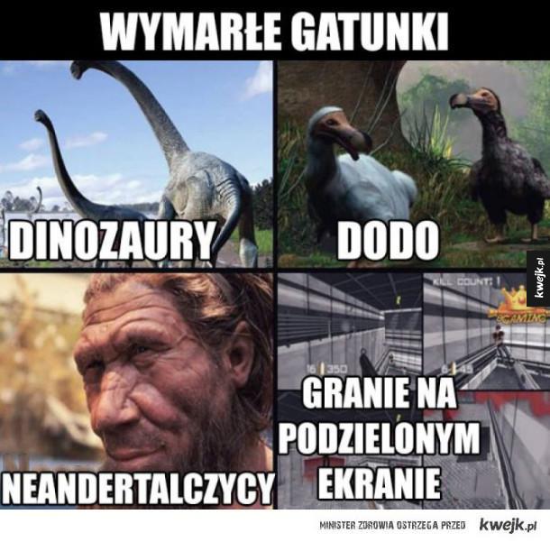 Wymarłe gatunki
