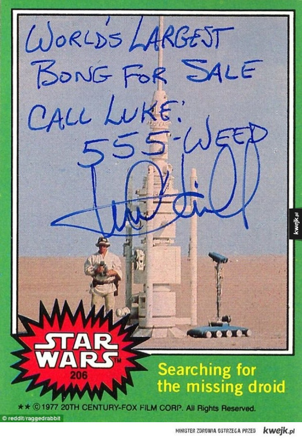 Mark Hamill daje najlepsze autografy !