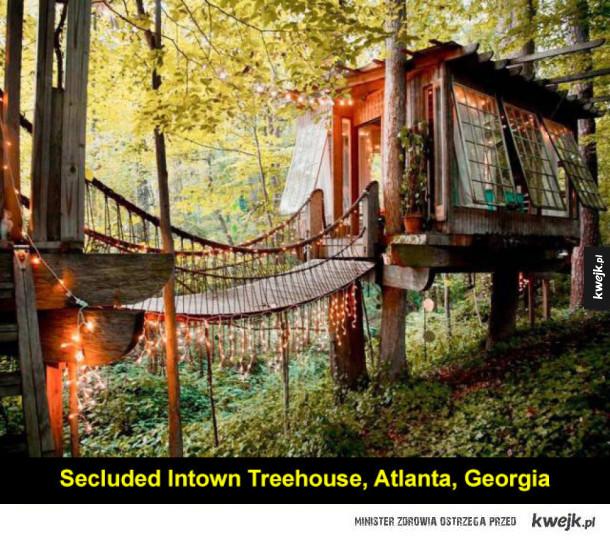 Domki na drzewie, w których chciałoby się mieszkać na stałe