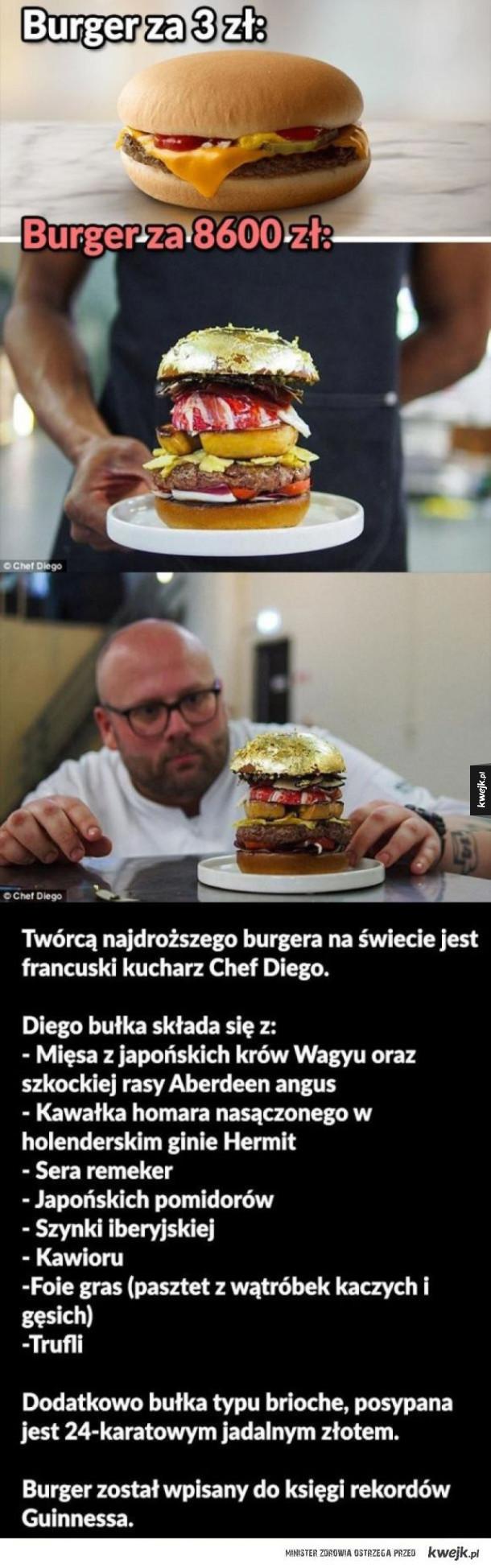 Burger za 8600zł