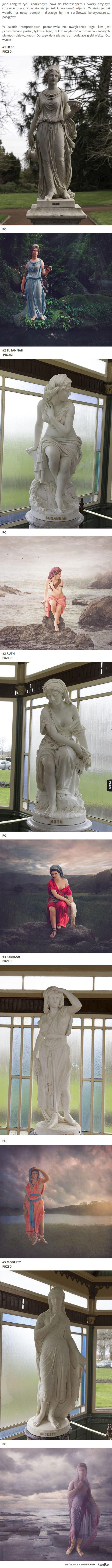 Koloryzowane posągi
