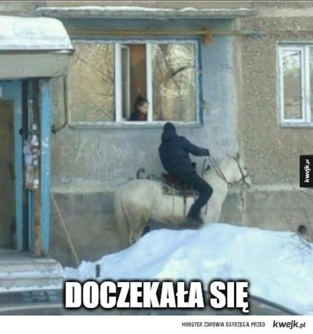 Rycerz na białym koniu