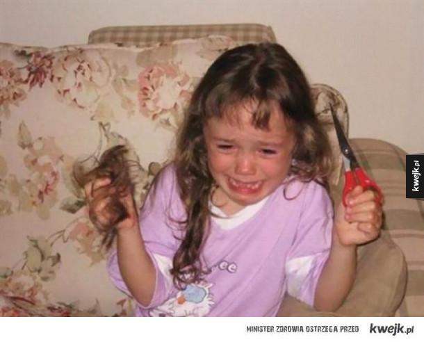 Dzieci kontra włosy
