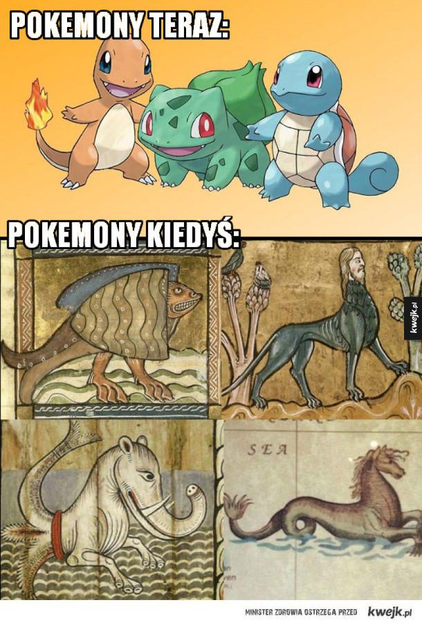 Tak kiedyś wyglądały pokemony