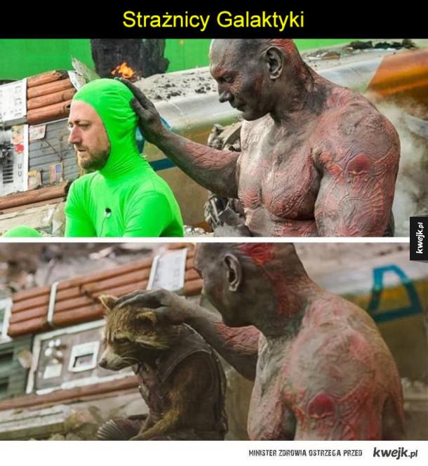 Filmy przed i po dodaniu CGI