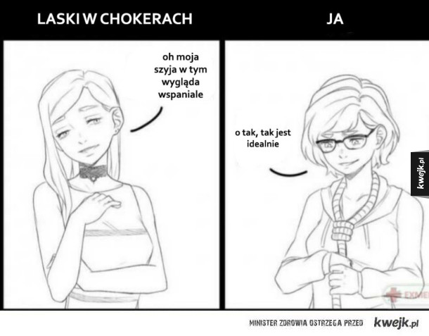 Laski w chokerach