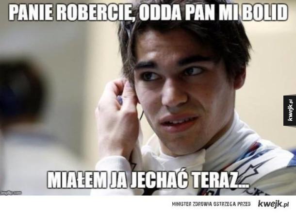 Memy po pierwszej sesji testowej Roberta Kubicy