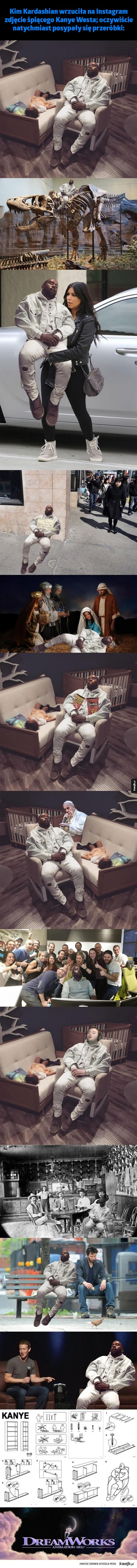 Śpiący Kanye West