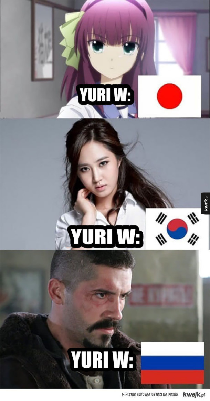 Jaki kraj takie Yuri