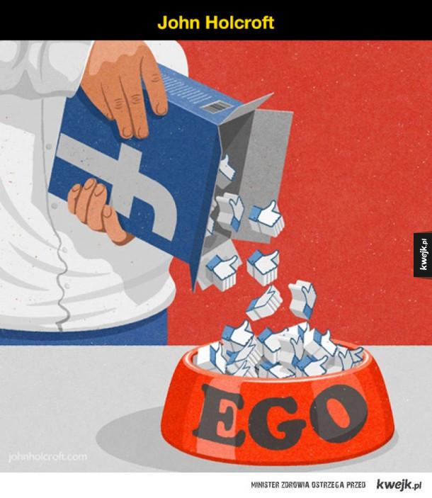 Ilustracje pokazujące problemy współczesnego świata