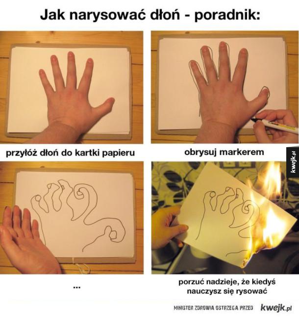 Jak narysować dłoń