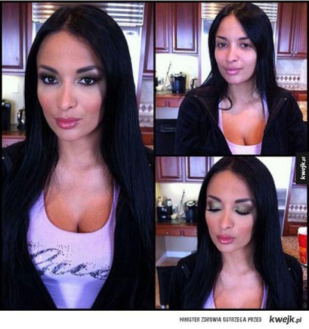 Kobiety przed i po makijażu