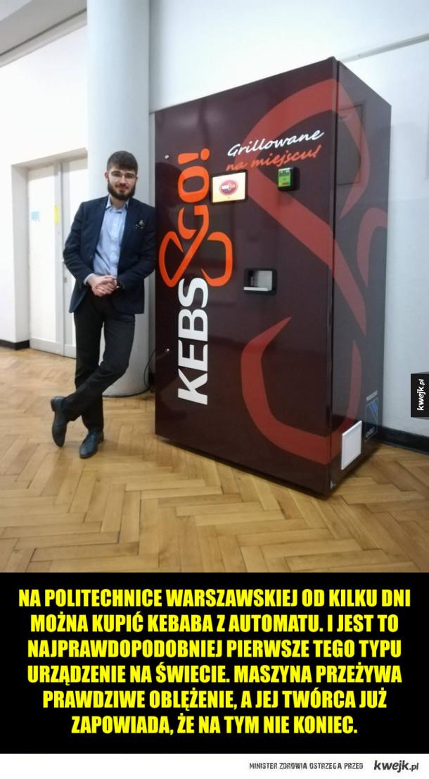Automat z kebabem na warszawskiej politechnice!