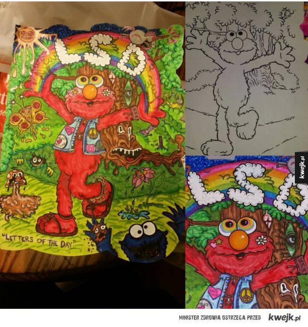 Dorośli kontra kolorowanki dla dzieci