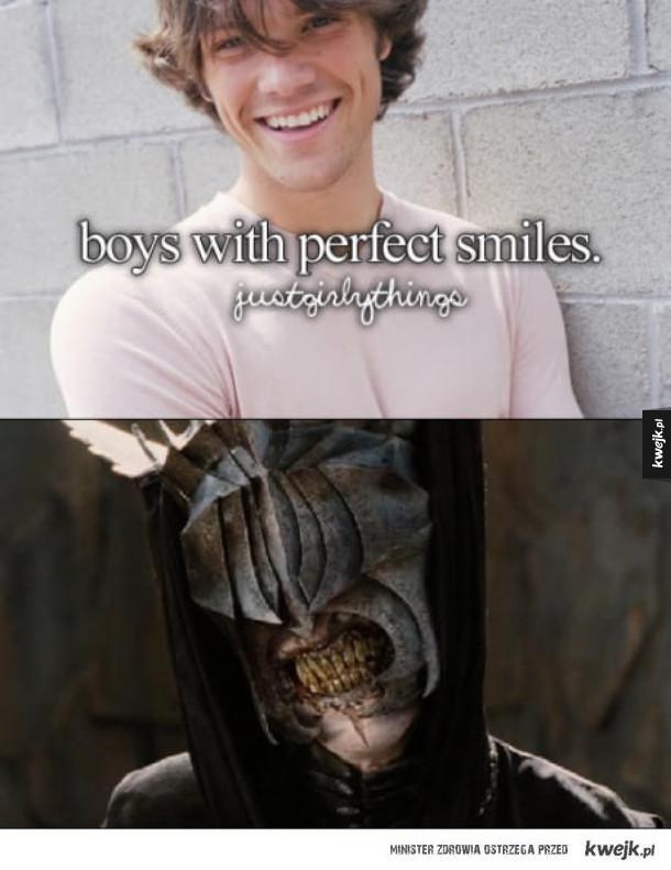 idealny uśmiech