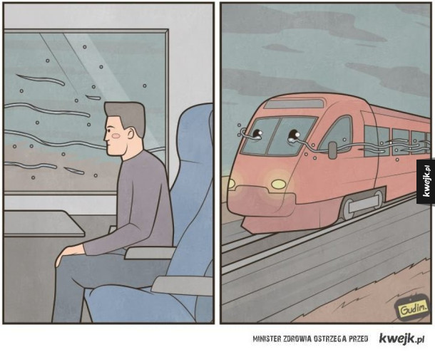 Dziwne ilustracje autorstwa Gudima