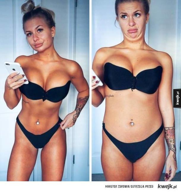 """Dziewczyny pokazują, że """"idealne ciała"""" istnieją tylko na Instagramie"""