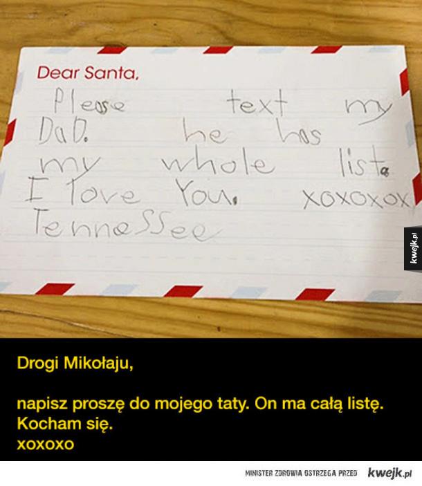 Dzieci piszą listy do Świętego Mikołaja