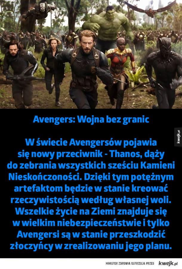 W świecie Avengersów pojawia się nowy przeciwnik - Thanos, dąży do zebrania wszystkich sześciu Kamieni Nieskończoności. Dzięki tym potężnym artefaktom będzie w stanie kreować rzeczywistością według własnej woli. Wszelkie życie na Ziemi znajduje się w wielk