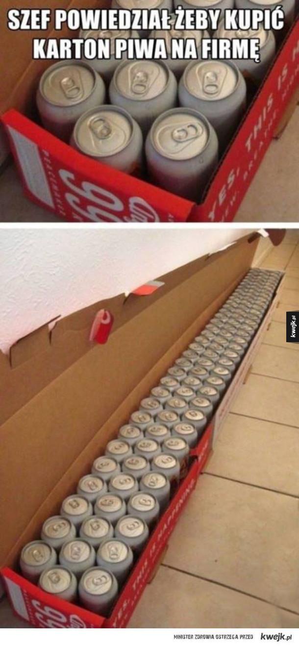 Jeden karton piwa