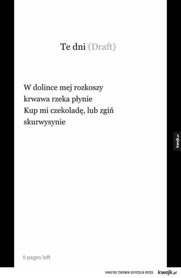 Super wiersz xD