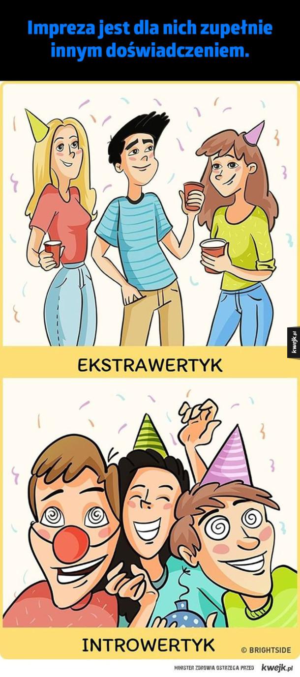 Ilustracje, które pokazują jak bardzo różnią się światy ekstrawertyków i introwertyków