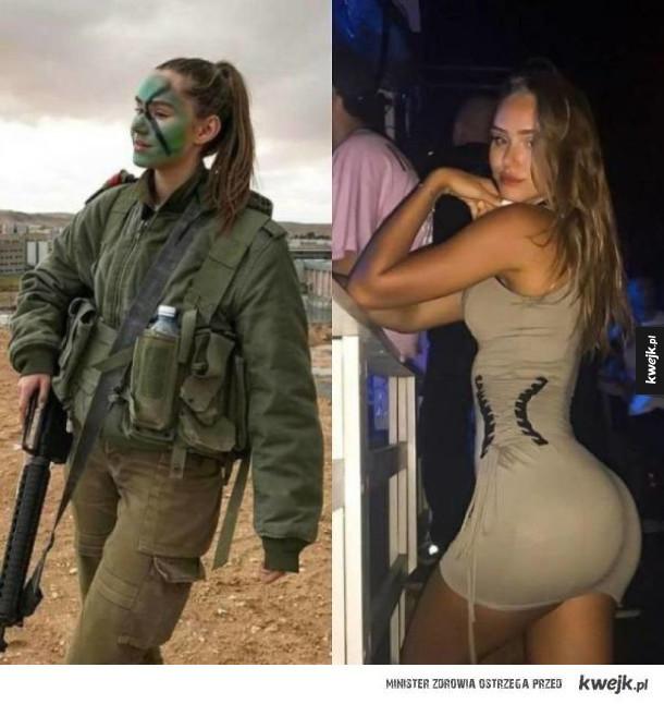 Laski w swoim służbowym mundurze i w seksowniejszym wydaniu bez niego