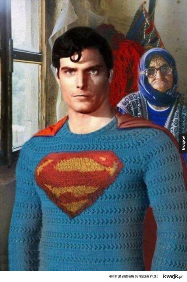 Za każdym superbohaterem stoi zatroskana babcia